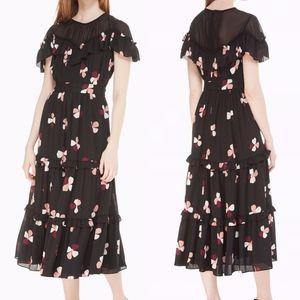 Kate Spade New York dusk buds Floral midi Dress